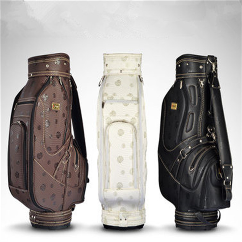 2016 Real Time-limited Leather Golf Bag Chaussure Lumineuse Continental Rose Standard Golf Bag Pu Personalized Package pgm vs golf standard ball package bag87 23 46cm men golf plaid club bag women ball environmental pu cart bag can hold 13 clubs