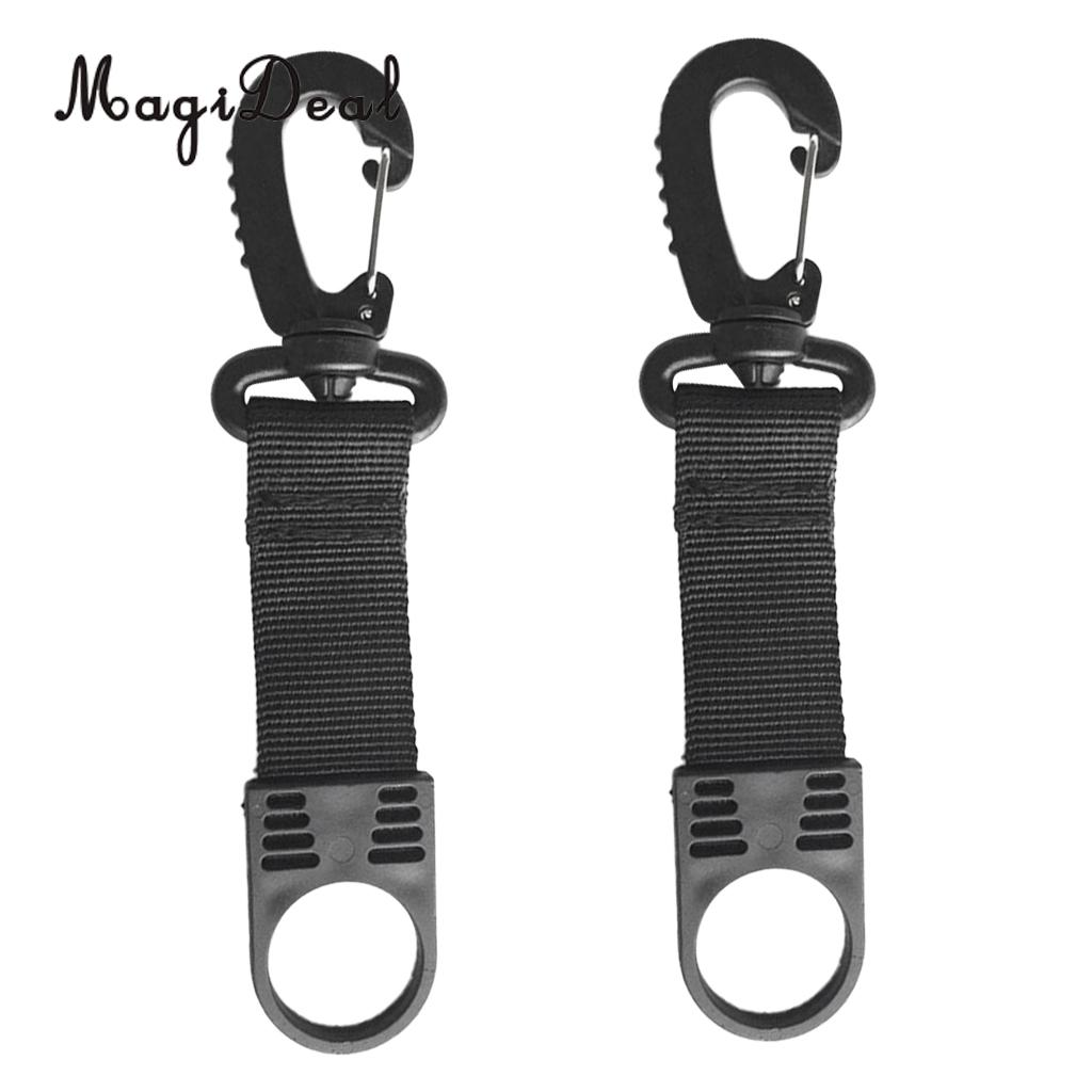 MagiDeal High Quality 2 Pieces Nylon Scuba Diving Regulator Retainer Mouthpiece Holder with Clip