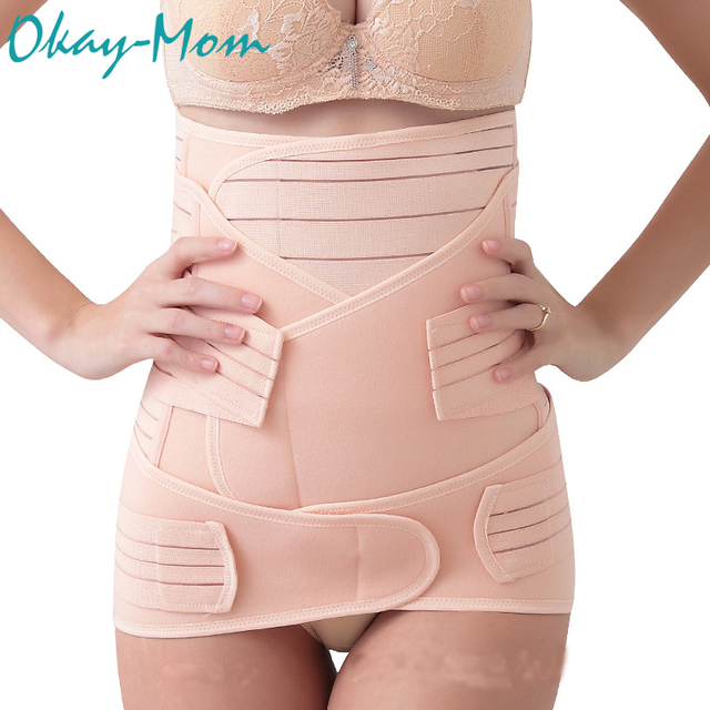 3 Pieces/Set Maternity Postnatal Bandage After Pregnancy Belt Underwear Intimates Postpartum Belly Band for Pregnant Women