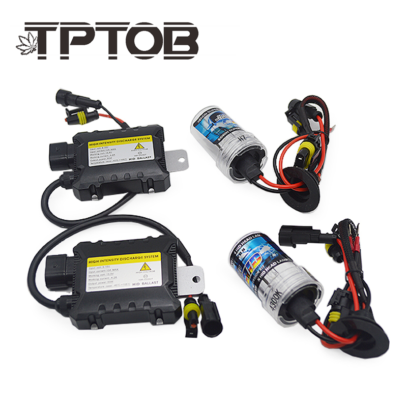 TPTOB 35W 55W Slim Ballast kit HID Xenon Light bulb 12V H1 H3 H7 H11 9005 9006 4300k 5000k 6000k 8000k Auto Xeno Headlight Lamp