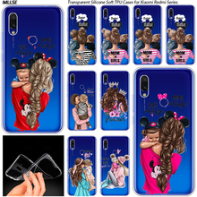 Baby Mom girl boy Transparent Background Silicone Case for