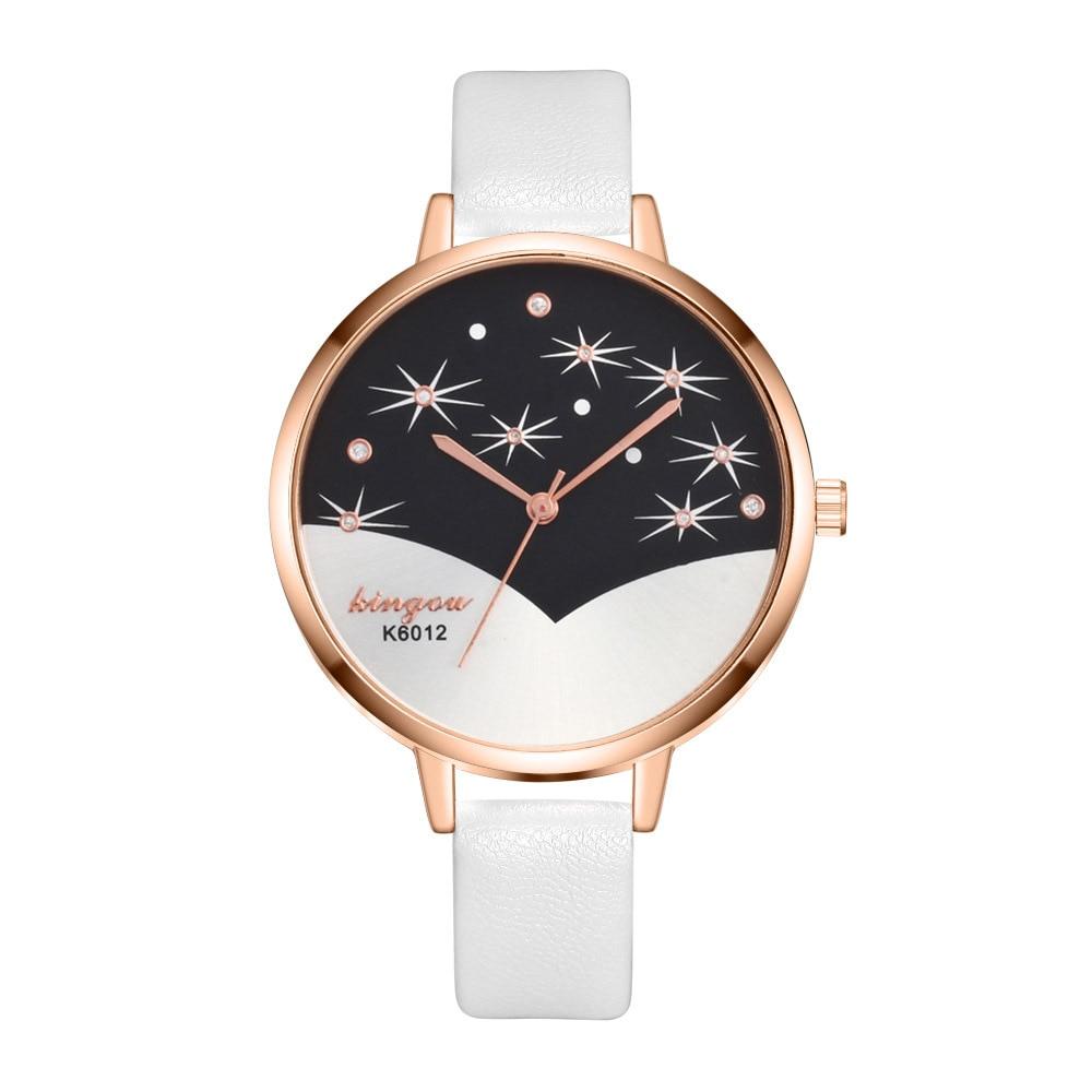 New Fashion Women Leather Band Watches Famale Clock Ladies Simple Dial Quartz Wrist Watch