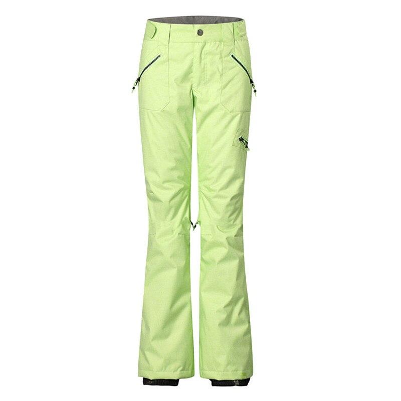 Femmes ski pantalon Snowboard pantalon femme respirant imperméable coupe-vent Top qualité hiver chaud pantalon pour dame