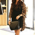 Fashion Women Leopard Patterned Chiffon Blouse Batwing Sleeve Tops One Size