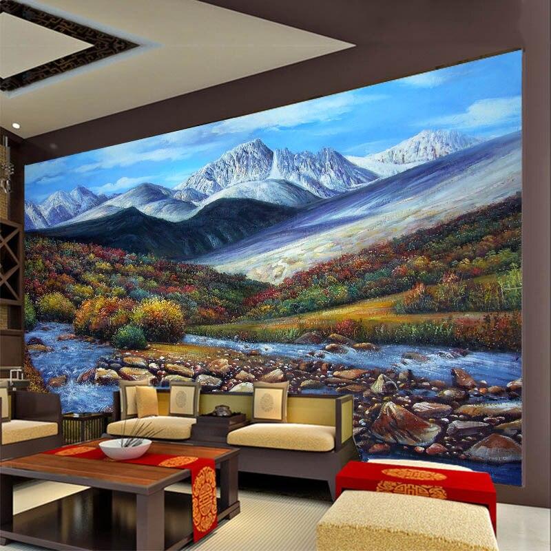 Custom Photo 3d European Oil Painting Wallpaper Abstract