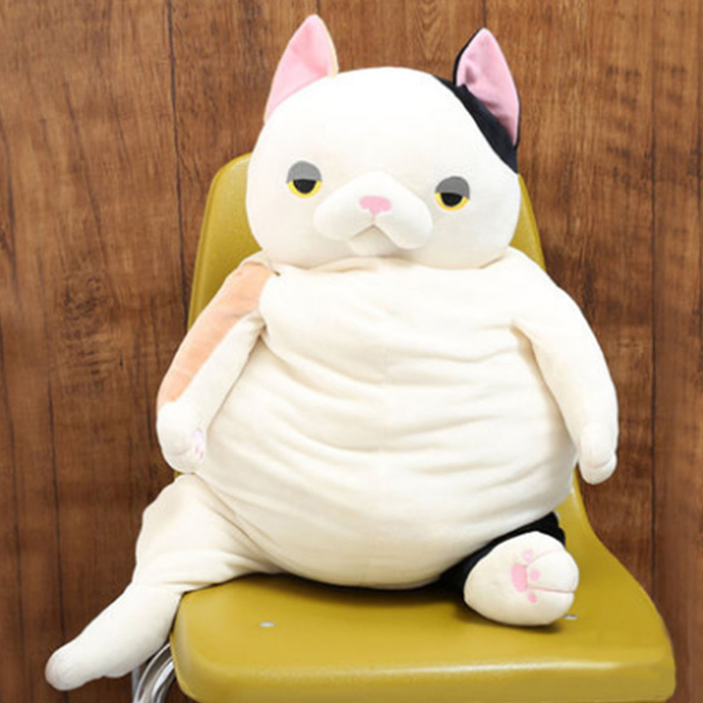 Fancytrader Pop Anime Stuffed Plush Cats Toy Cute Big Belly Cat Animals Doll 80cm 31inch Kids Gifts fancytrader giant 95cm stuffed fat cats pillow doll cuddly soft animals cat toys 37inch nice kids gifts