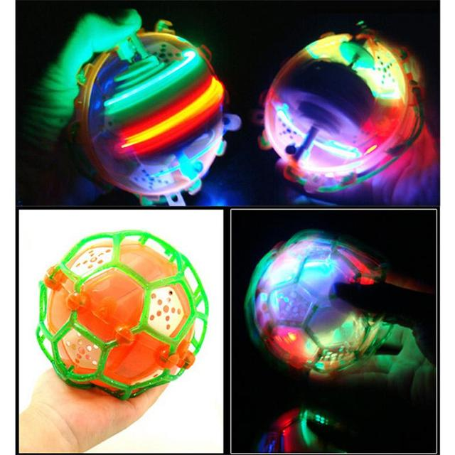1Pc LED Light Jumping Ball Kids Crazy Music Football Bouncing Dancing Ball Children's Funny Toy Christmas gift