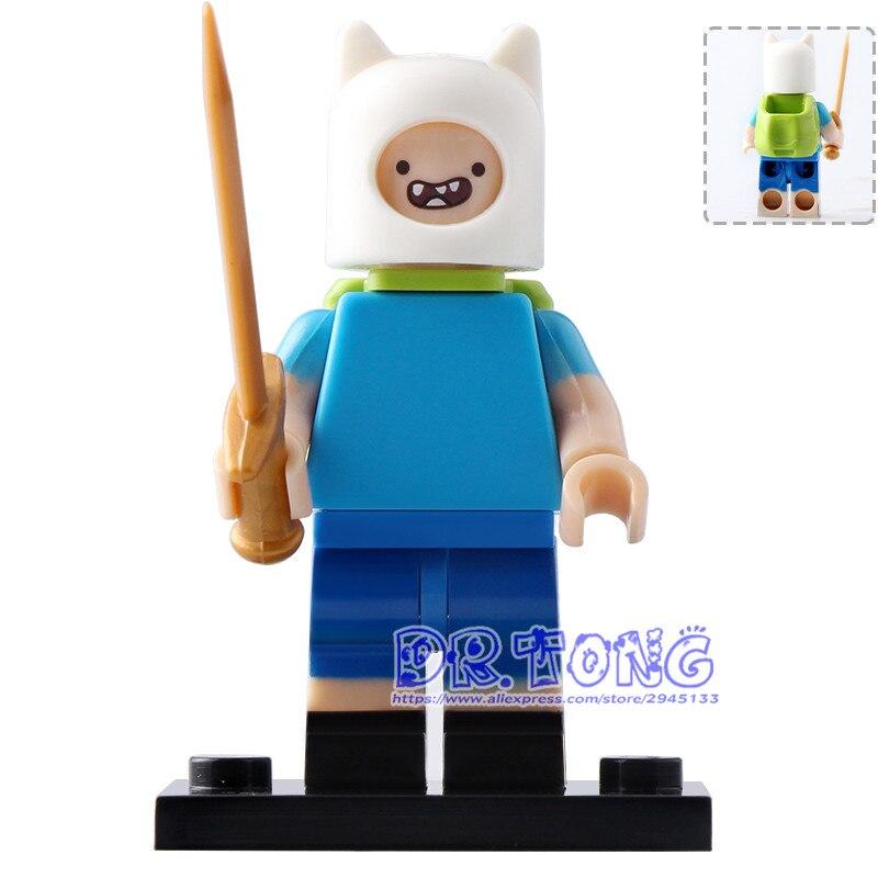 20 шт./лот KF993 Super Heroes время приключений человеческого Finn куклы кирпич действий строительные блоки образования игрушки для детей