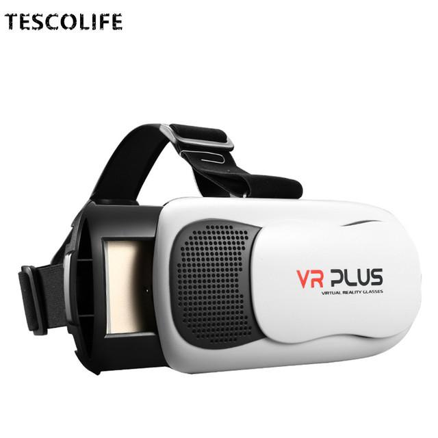 2017 CAJA Pro 3.0 VR VR PLUS III Versión De Cuero con Lente de Cristal de Recubrimiento Real 3D Auriculares Gafas de Realidad Virtual Gafas De Cartón