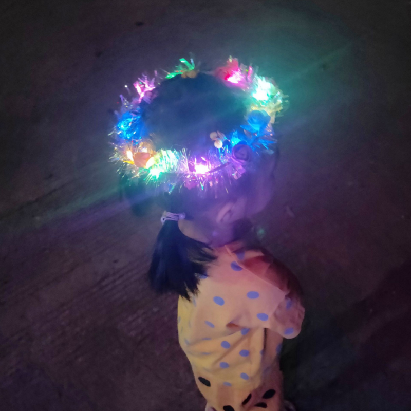 Beautiful LED  Headbands For Women Wedding,Festival And Party, Girls Flower Headpiece Children Kids Toys Hair Band