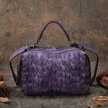 Original Design Genuine Leather Vintage Women Handbag High Quality Shoulder Bag Big Capacity Casual Messenger Bag Pillow