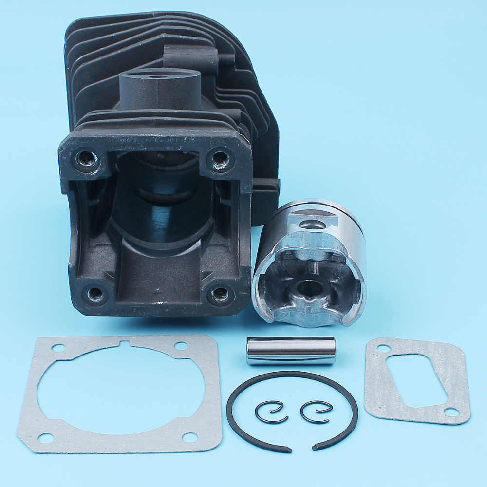Покрытый nikasil поршень (42 мм) кольцо булавки комплект w/прокладка для Husqvarna 340 345 E 350EPA Jonsered CS 2141 2145 2150 бензопила