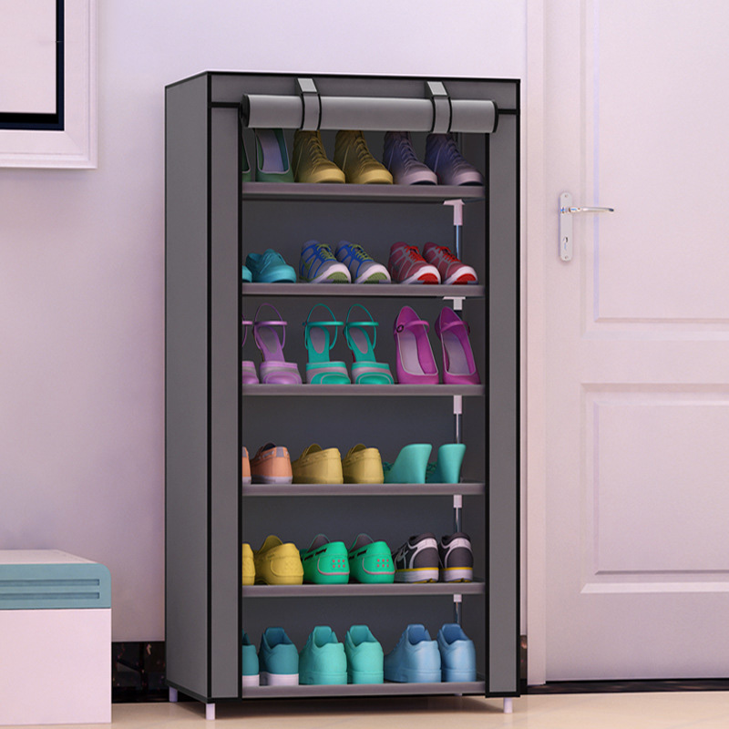 Shoe cabinet 7-layer 6-grid Non-woven fabrics large fashion shoe rack organizer removable shoe storage for living room furniture 7 layer 6 grid shoe cabinet non woven fabrics shoe rack organizer removable shoe storage for home living room furniture