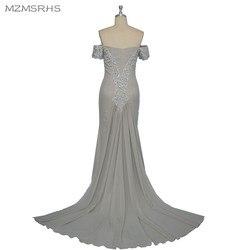 Vestido de baile mzmsrhs elegant open back evening dress luxury beading silver mermaid prom dresses sexy.jpg 250x250