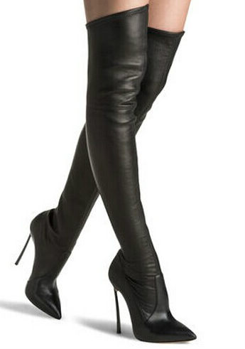 542ade85e69 Women Stretch Suede Slim Thigh High Boots EU 35 42 Sexy Fashion Over the Knee  Boots High Heels Woman Shoes Black Green Winered-in Over-the-Knee Boots  from ...