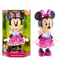 Disney Minnie Figure Cartoon Action Figure Toys Children Toys Gift 35.5cm Mouse Action Toy Figures for Christmas Gift