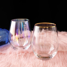 Multi-Color Glass Juice Cup stemless wine glass Heat-resistant water cup Phnom Penh drinking lulu lemon glasses