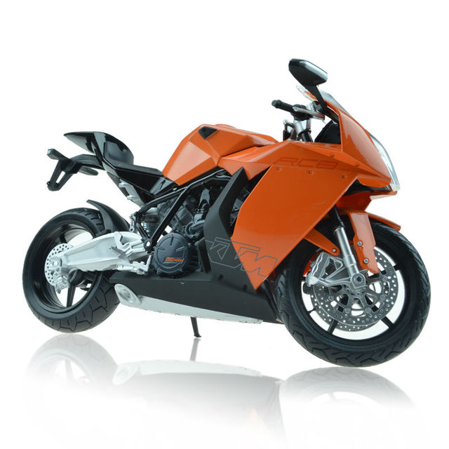 Alloy motorcycle KTM RC8 model simulation of kid's toys International Children's Day gift 1:12