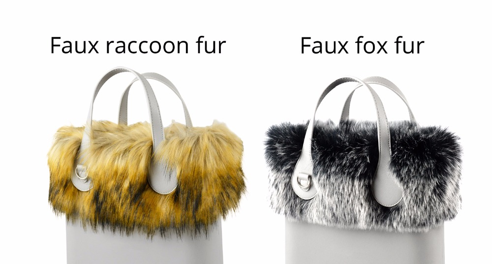 2ee38215969c Package Included 1 pc of faux fur plush decoration(Bag body not inclueded)