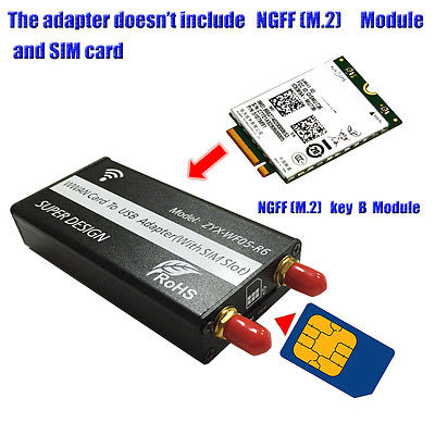NGFF(M.2) to USB Adapter With SIM card Slot for WWAN/LTE/4G Module цена и фото