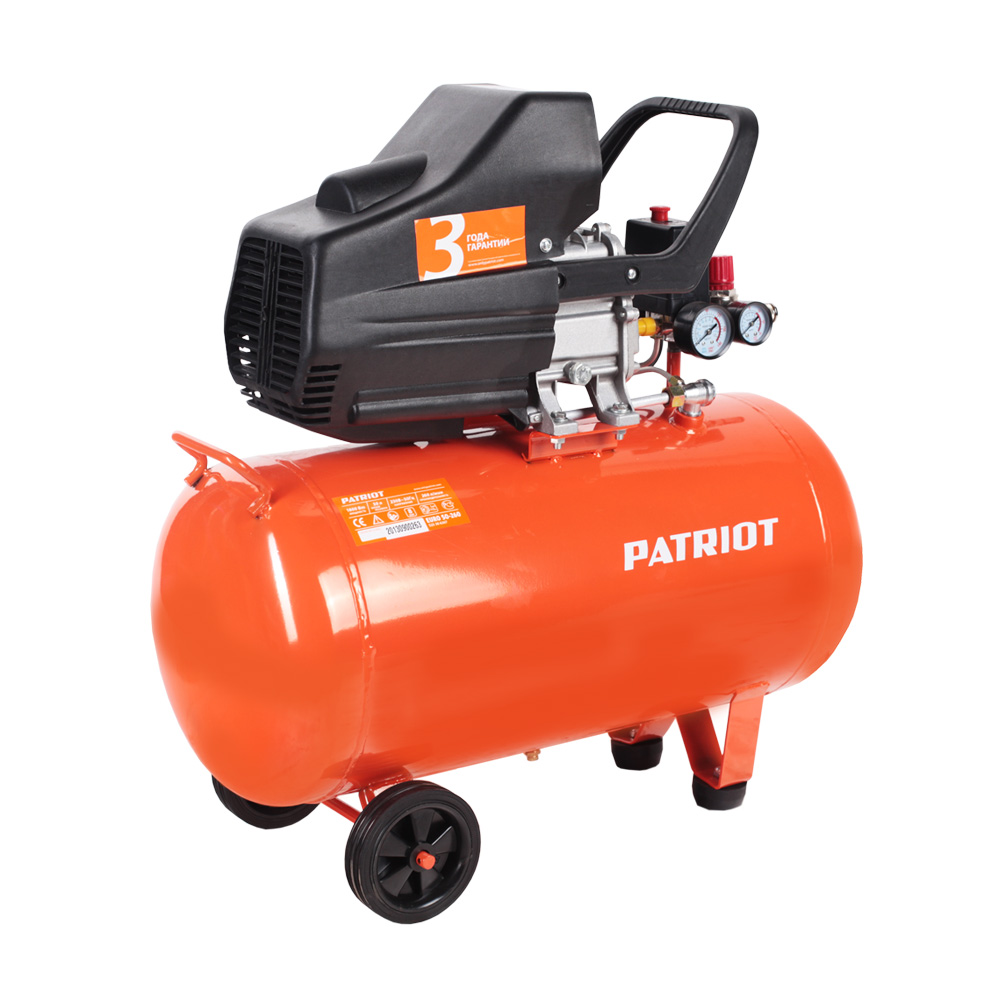 Compressor electric PATRIOT 50-260 EURO portable air compressor electric pump with barometer