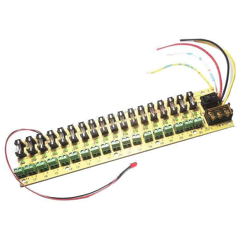 12 V DC energieverteilung 18 ch platine terminal block für ...