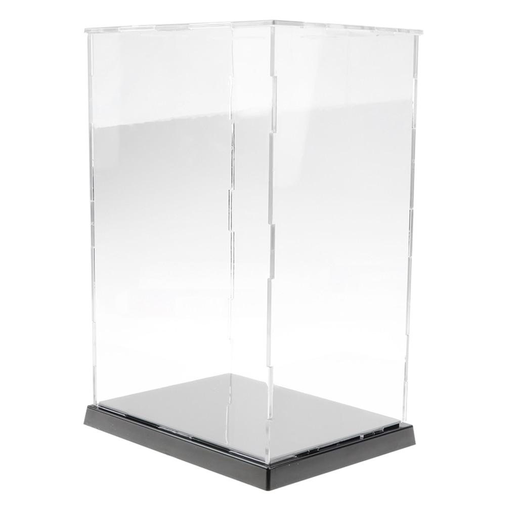 ES 31cm L Acrílico Vitrina Auto-Ensamblaje Caja Transparente a Prueba de Polvo