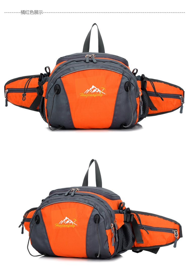 Men Women Sport Waist Bag Pack Backpack With Bottle Holder Outdoor Exploration Travel Casual Cycling Gym Storage Bag Packs (15)