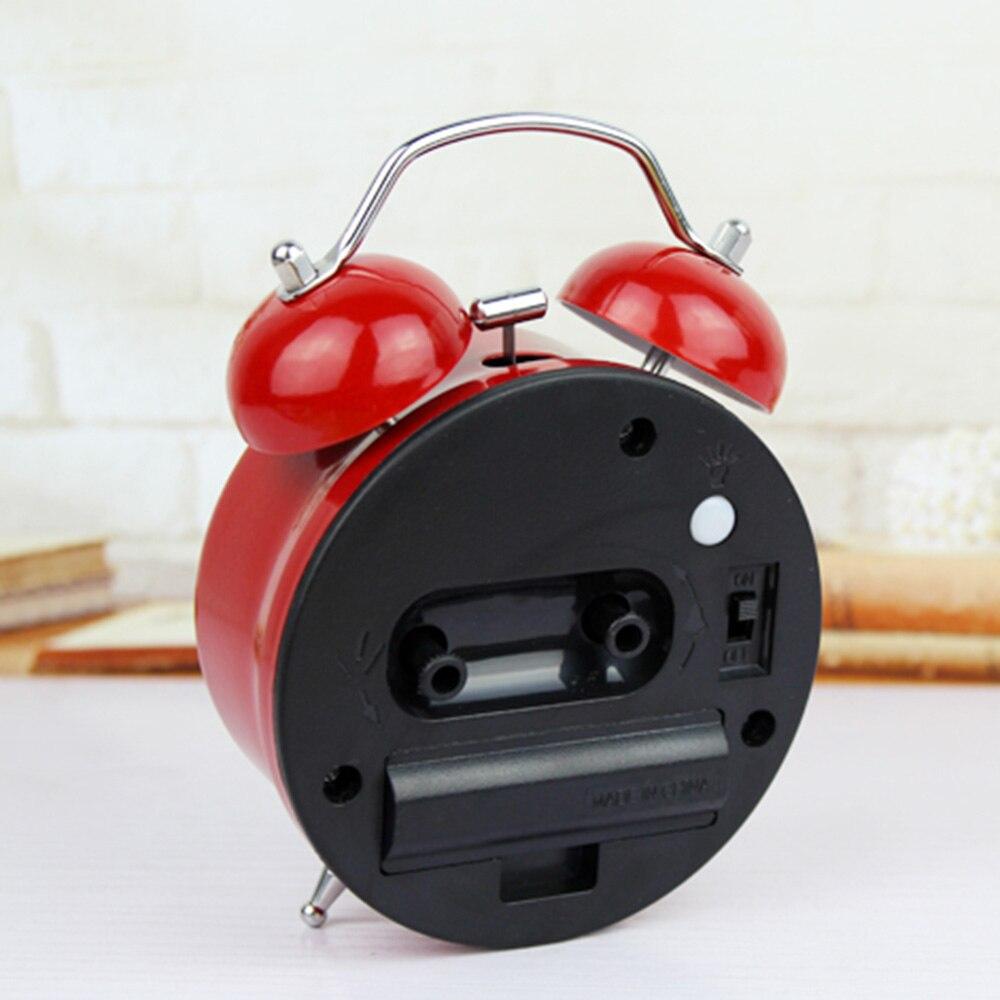 Mode Red Cobweb Style 3D Logam Bell Jam Alarm Minimalis Desktop Jam - Dekorasi rumah - Foto 4
