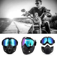Hot Destacável Máscara Óculos de Proteção Da Motocicleta Harley Filtro De Boca Estilo Perfeito para Abrir Rosto Meio Capacete Da Motocicleta ou Capacetes Do Vintage