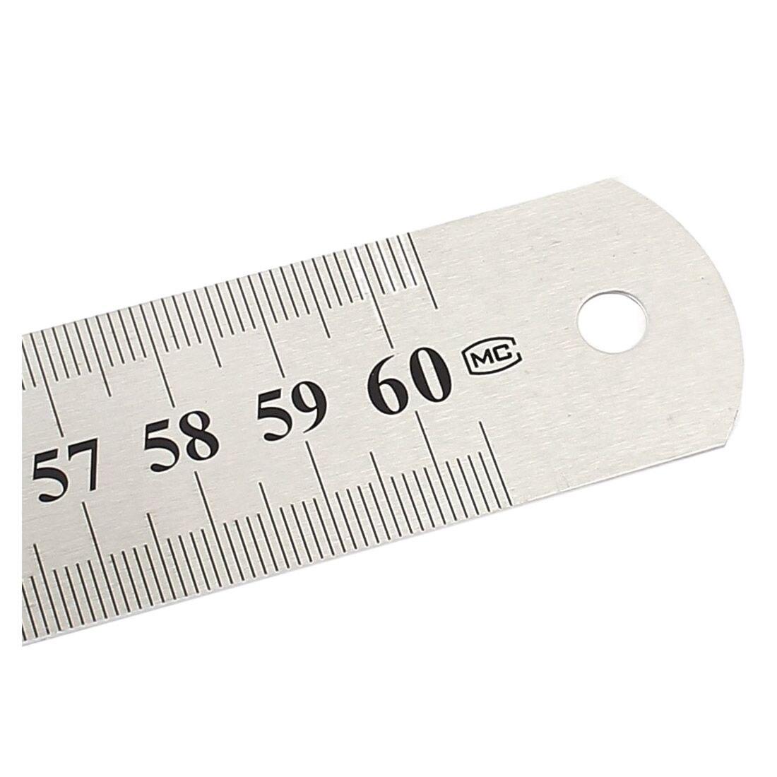 15//20//30cm Straight Aluminium Règle Outil de mesure pouces//cm