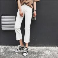2017 Summer Korean Version Of The High Waist Was Thin Casual Jeans Women S Nine Pants