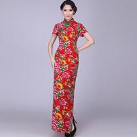 Национальный китайское платье Ципао современный Восточный Платья для женщин Винтаж цветок Cheongsam ретро халат традиционные женщина QI Pao Кита...