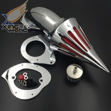 Aftermarket free shipping motorcycle parts Spike Air Cleaner intake filter for Kawasaki Vulcan 800 Classic 1995-2012 CHROME