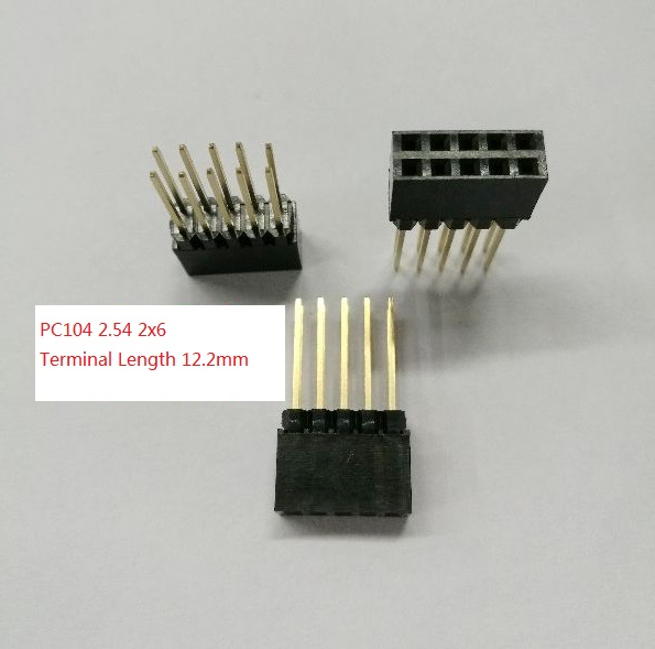 10pcs 2x6 Pin 12p 2.54mm Double Row Female Straight Header Pitch Socket Strip Special Summer Sale Electronic Components & Supplies