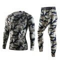 Tops+pants 2Sets quality Camouflage thermal thermo Long Johns men underwear sets compression sweat quick drying men clothing