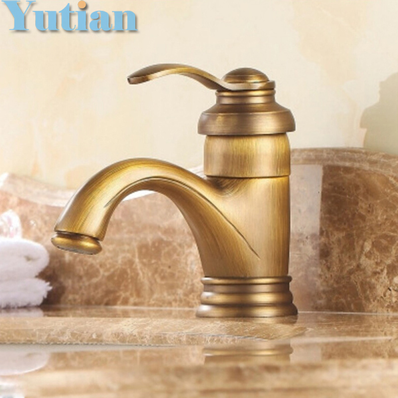ФОТО Hot selling,Free shipping Antique Brass basin faucet, bathroom faucet ,basin mixer, basin tap torneira YT-5065