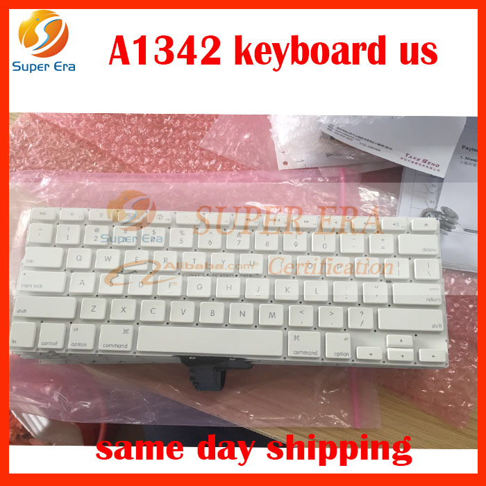 10pcs lot brand new for font b macbook b font A1342 13inch white keyboard clavier without