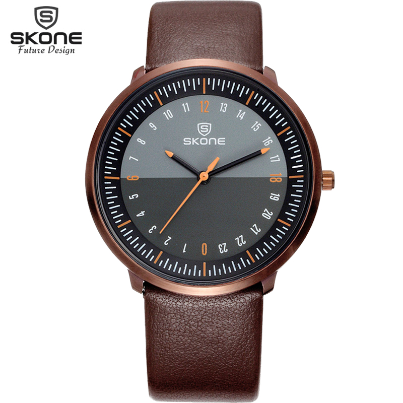 Skone Top Brand Luxury Men Watches Waterproof Ultra Thin Dial Clock Male Leather Strap Casual Quartz Watch Men Wrist Sport Watch цена
