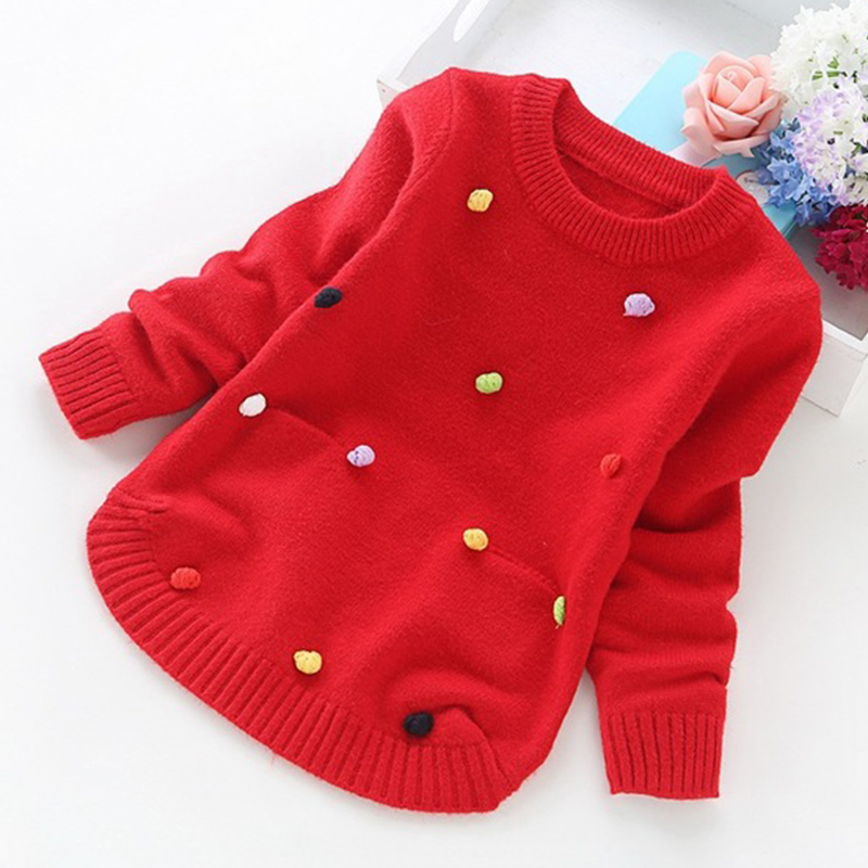 Image 4 - big girl sweaters winter girl sweaters 2 4 6 8 10 years toddler knitting pullovers top korean style cardigans warm kids-in Sweaters from Mother & Kids