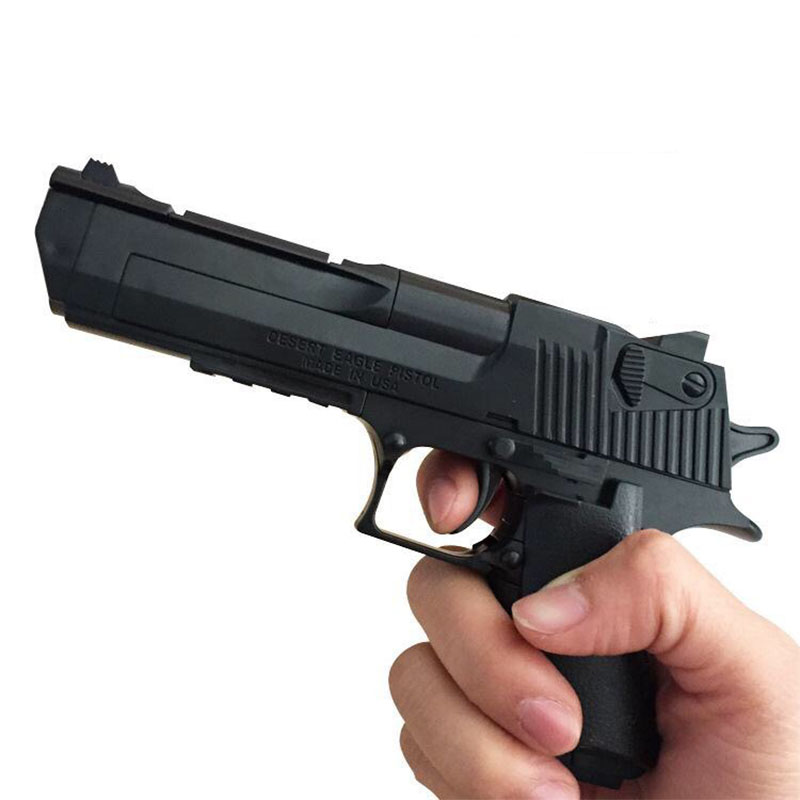 Outdoor Fun Sports Airsoft Air Guns Children's Intelligence Spell Inserting Assembly Toy Pistol Simulation Model Desert Eagle