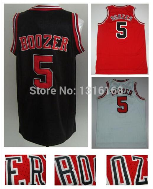 203dbb40ef7 Wholesale  5 Carlos Boozer Jersey Chicago Rev 30 New Meterial Black Red  White Basketball Fashion All Stitched Fast Free Shipping