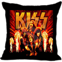 Kiss Band Pillowcase (one side) Zippered Pillow Cover