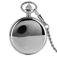 Новое поступление 2017 года Горячая простой Дизайн двойной Полный Охотник Механические карманные часы для Для женщин Для мужчин стимпанк Час...