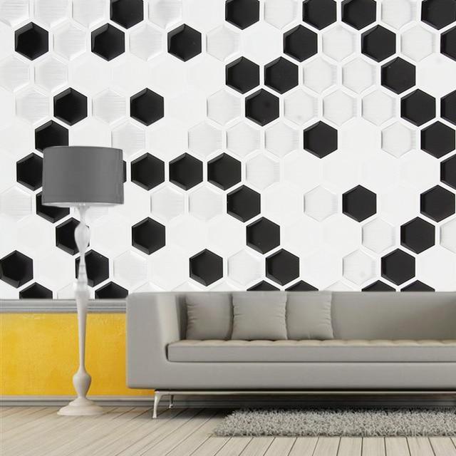Stylish 3D Modern Irregular Pattern Ceramic Tile Sitting Room ...
