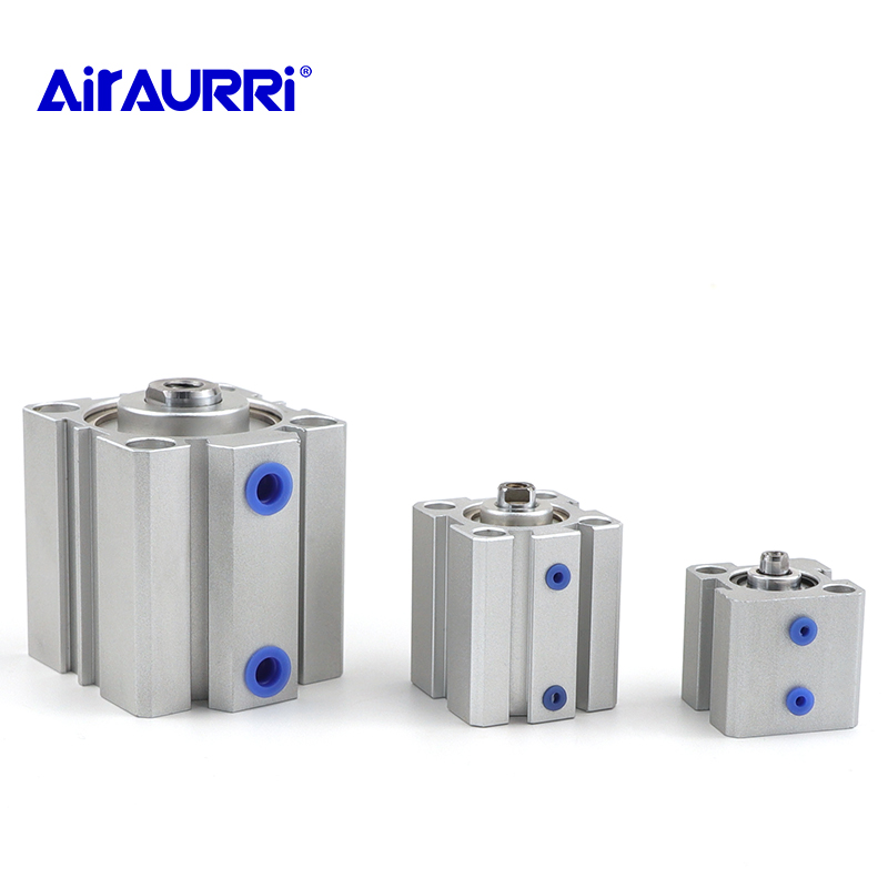 SDA series Pneumatic Compact air Cylinder 16 20 25 32 40 50 63mm Bore to 5 10 15 20 25 30 35 40 45 50mm Stroke image