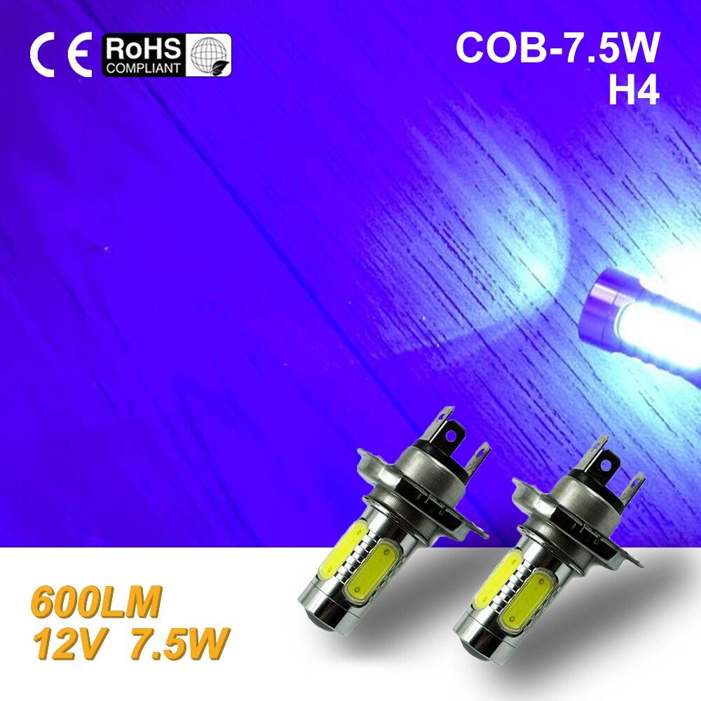 2pcs led h4 7.5w high power led bulb LED Turn Brake Stop Signal Tail Fog Bulb Light led blue