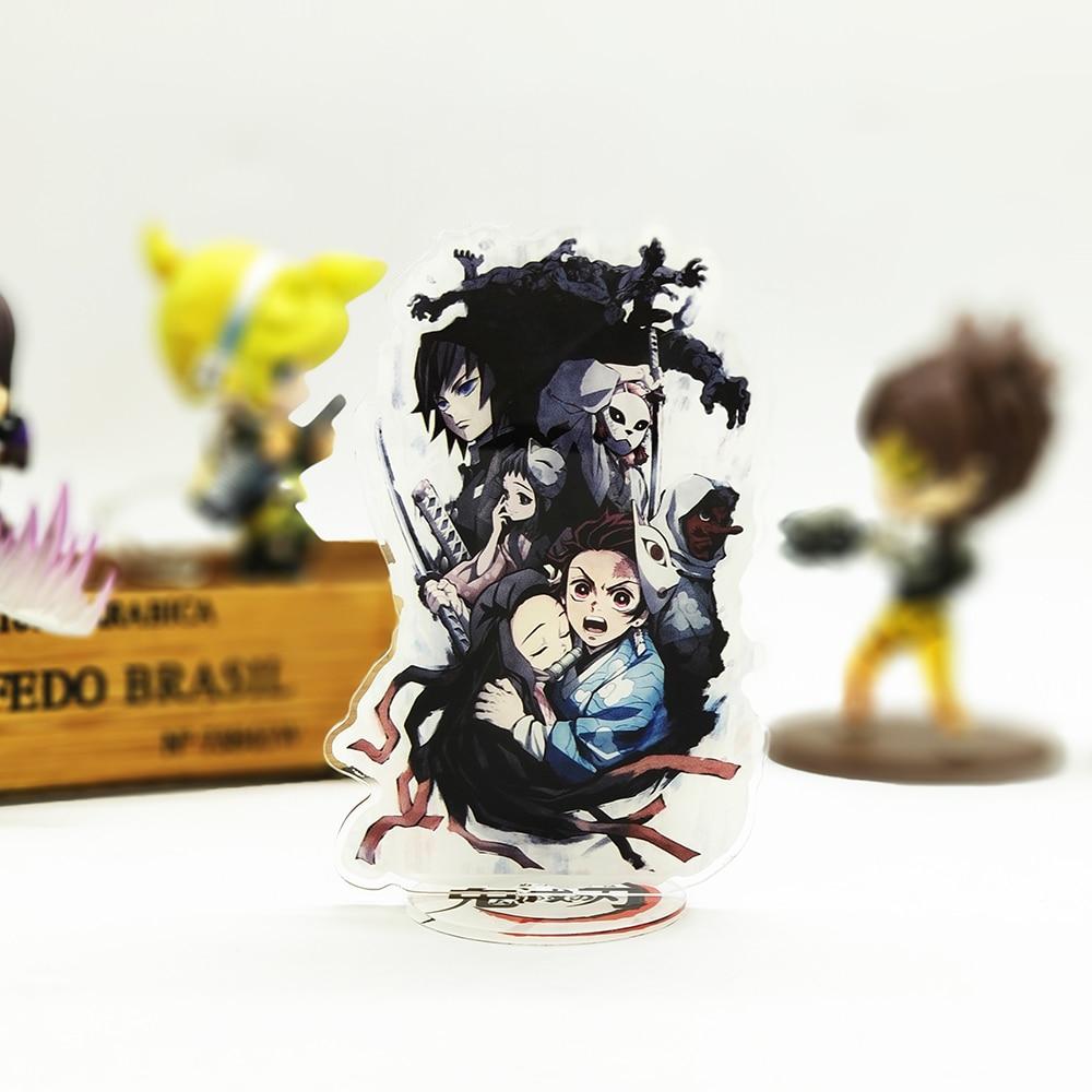 Demon Slayer Kimetsu No Yaiba Tanjirou Nezuko Acrylic Stand Figure Model Double-side Plate Holder Cake Topper Anime