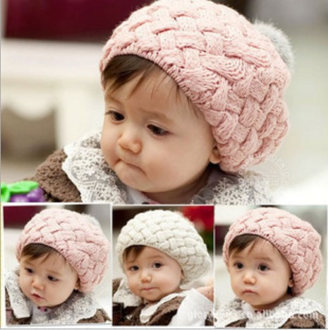 Baby Hat Kids Baby Photo Props Beanie Faux Rabbit Fur Gorros Crochet Beanie Toddler Cap For 4 Months-3Years Old Girl