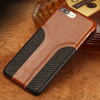 LANGSIDI Phone Case Snake Skin Fight Wax Leather Back Cover Case For Iphone 8P Mobile Phone